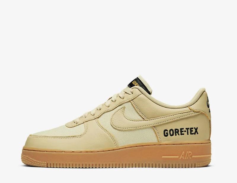 Nike air force 1 gore tex sneakers goud