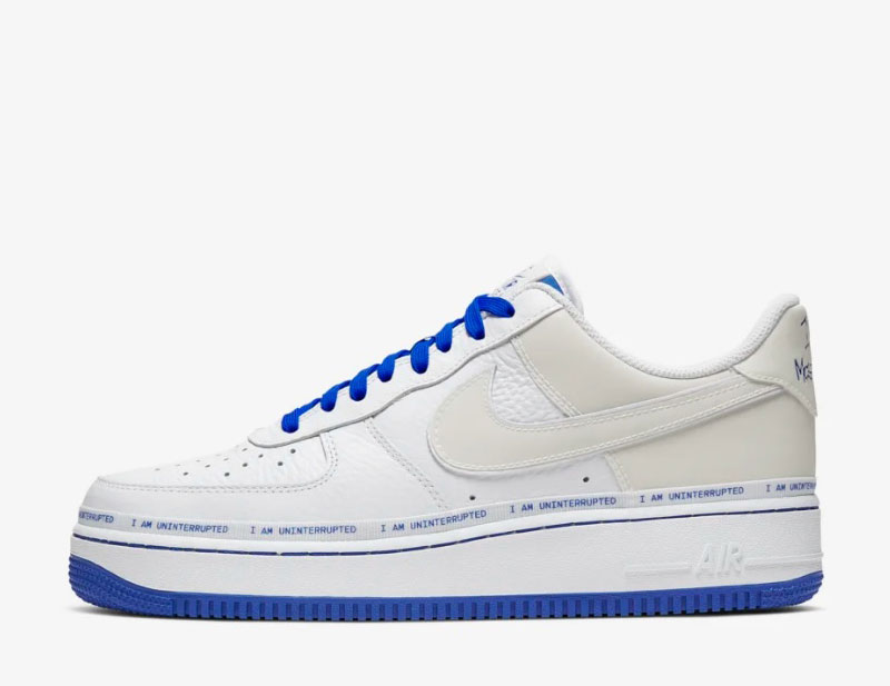 Nike air force 1 sneakers wit/blauw