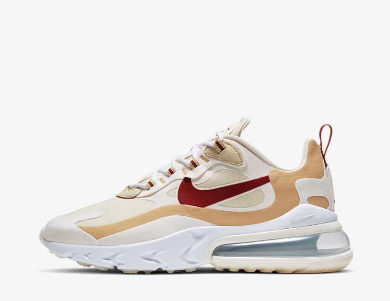 Nike air max 270 react dames sneakers wit/goud