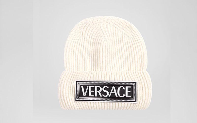 Versace 90s vintage logo muts wit