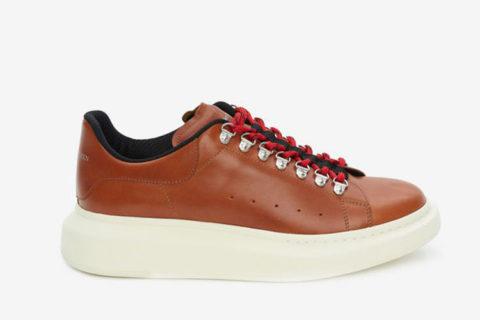 Alexander Mcqueen oversized heren sneakers bruin/wit