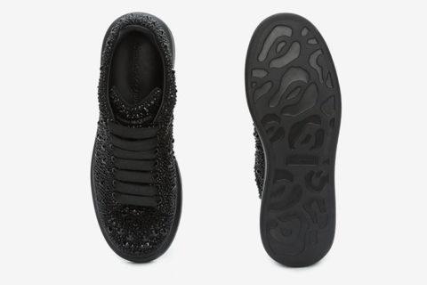 Alexander Mcqueen oversized heren sneakers kristal zwart