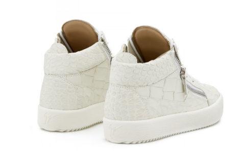 Giuseppe Zanotti kriss croco sneakers wit