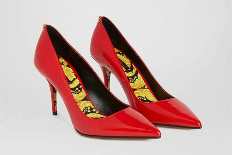 Versace barocco dames pumps rood