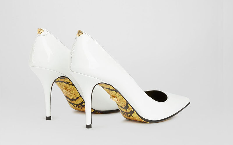 Versace barocco dames pumps wit