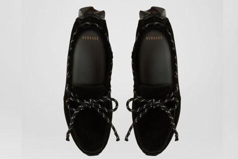 Versace chain heren instappers zwart