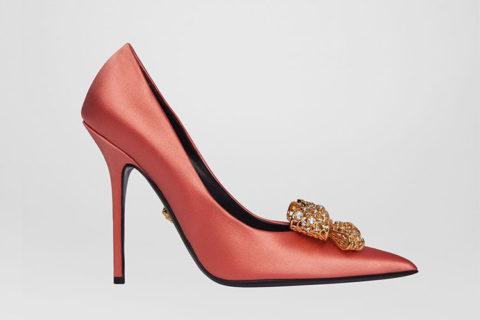 Versace v-bow dames pumps roze