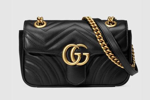 Gucci gg marmont matelessé mini schoudertas zwart