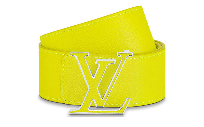 Louis Vuitton lv initiales 40mm reversible riem geel