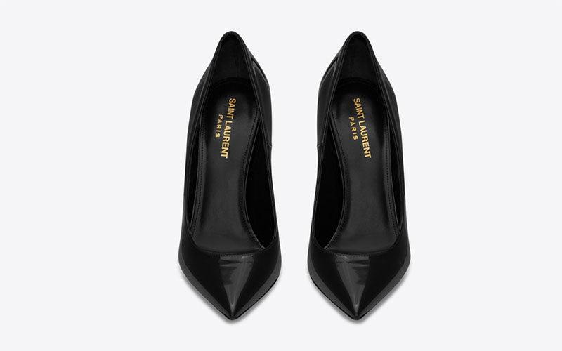 Yves Saint Laurent opyum d´orsay dames pumps zwart/goud