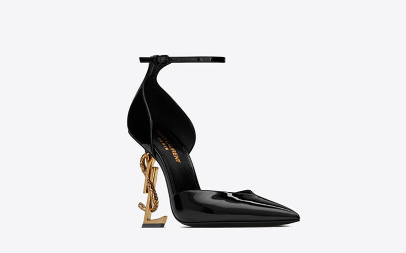 Yves Saint Laurent opyum d´orsay dames pumps zwart/brons