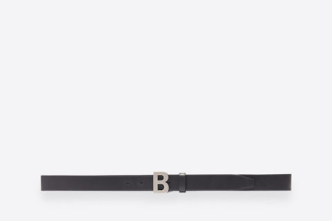 Balenciaga b thin riem zwart