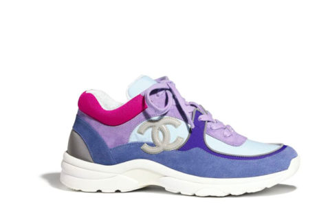 Chanel lage dames sneakers blauw