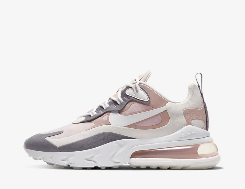 Nike air max 270 react dames sneakers wit/grijs