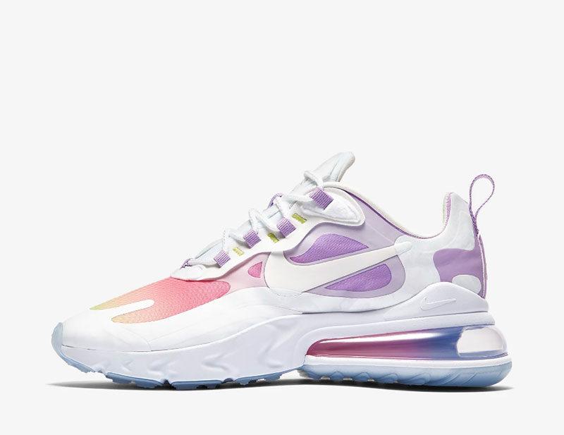 Nike air max 270 react dames sneakers wit/paars