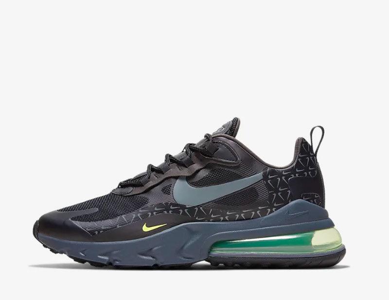 Nike air max 270 react heren sneakers donkergrijs