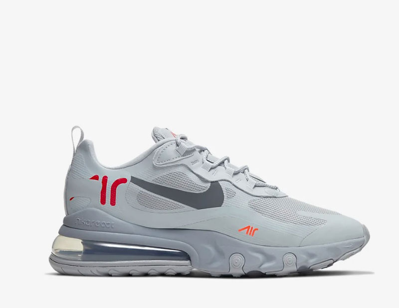 Nike air max 270 react heren sneakers grijs