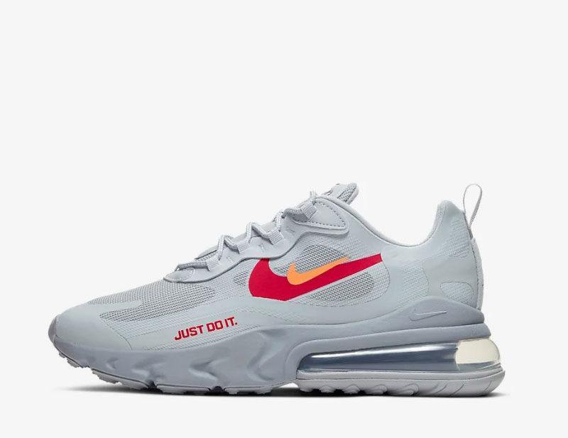 Nike air max 270 react heren sneakers grijs