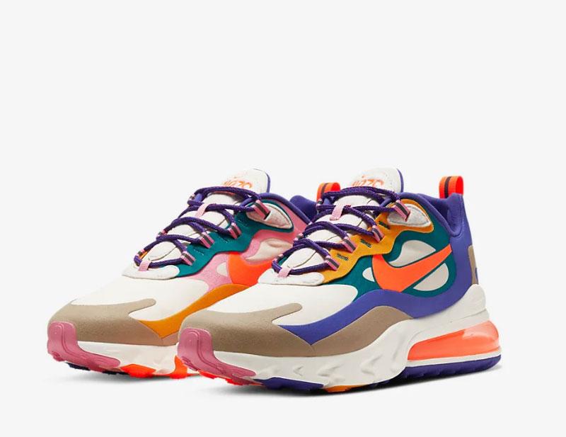 Nike air max 270 react heren sneakers multicolor