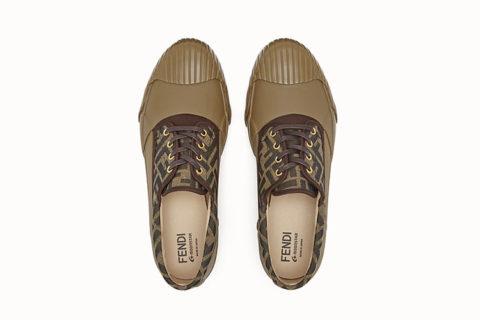 Fendi and moonstar heren sneakers bruin