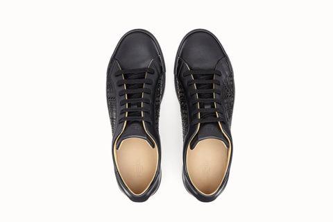 Fendi lederen lage heren sneakers zwart