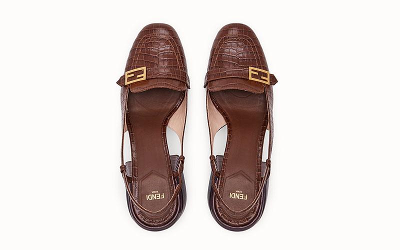 Fendi slingback dames sandalen bruin