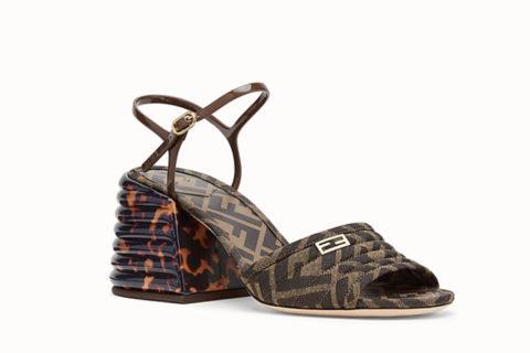 Fendi slingback dames sandalen donkerbruin
