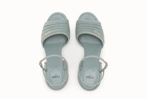 Fendi slingback dames sandalen lichtblauw