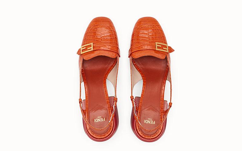 Fendi slingback dames sandalen rood