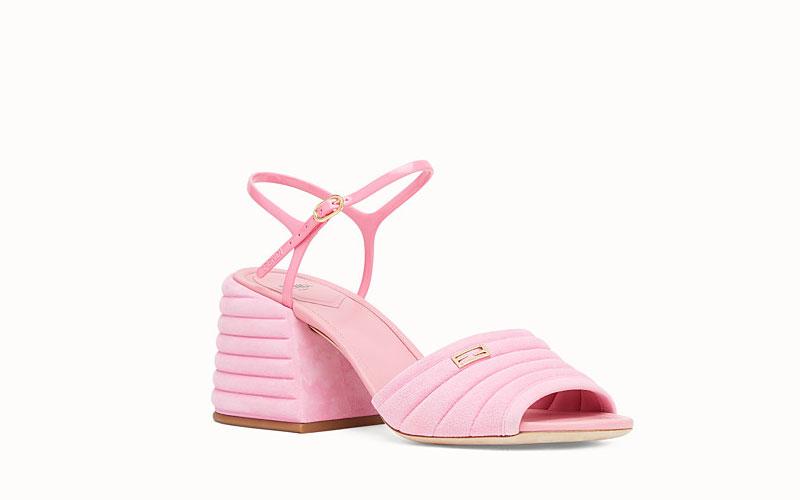 Fendi slingback dames sandalen roze