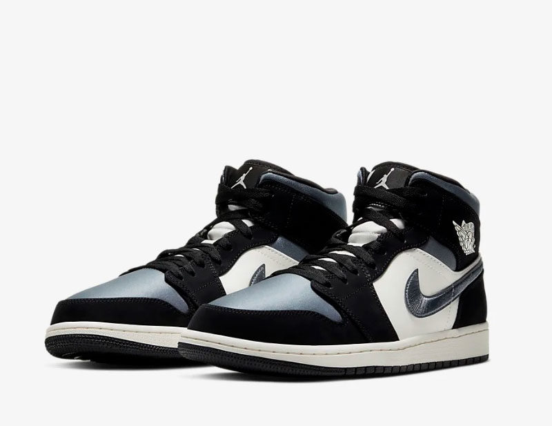 Nike air jordan 1 mid se heren sneakers wit/zwart