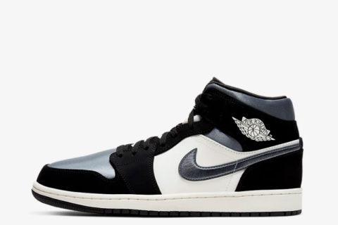 Nike air jordan 1 mid se heren sneakers wit/zwart