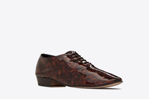 Yves Saint Laurent hopper oxford dames schoenen bruin/zwart