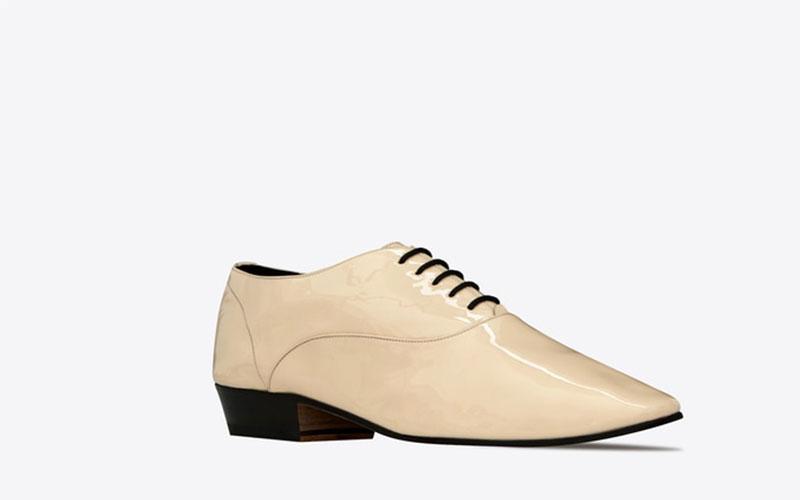 Yves Saint Laurent hopper oxford dames schoenen creme wit