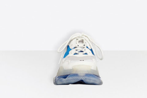 Balenciaga triple s clear sole heren sneakers wit/donkerblauw