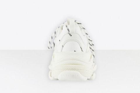 Balenciaga triple s allover logo heren sneakers wit