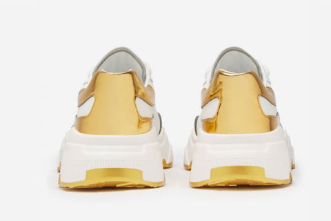 Dolce & Gabbana daymaster sneakers wit/goud