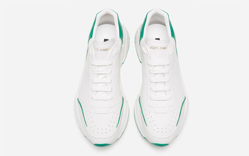 Dolce & Gabbana daymaster sneakers wit/groen