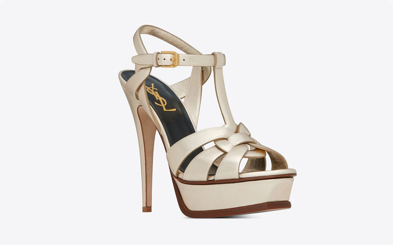Yves Saint Laurent tribute dames sandalen metallic/goud