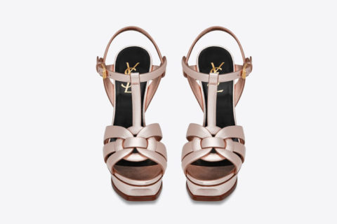 Yves Saint Laurent tribute dames sandalen metallic/roze