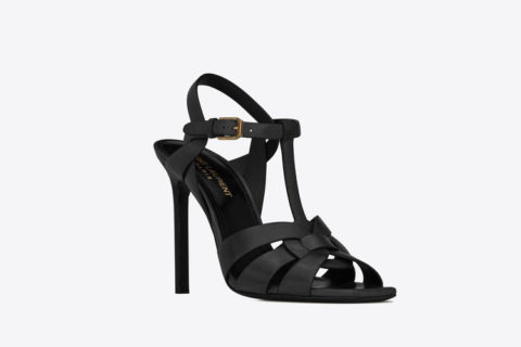 Yves Saint Laurent tribute leder dames sandalen zwart