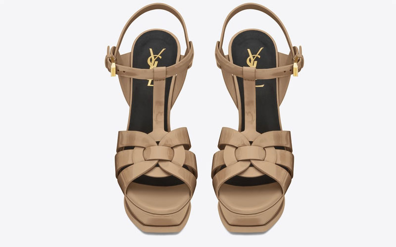 Yves Saint Laurent tribute dames sandalen beige