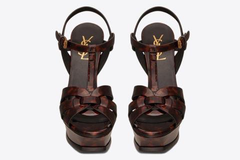 Yves Saint Laurent tribute dames sandalen donkerbruin