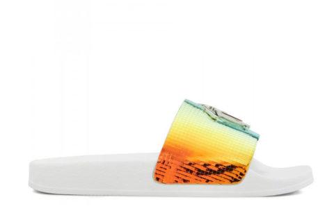 Giuseppe Zanotti brett dames slippers wit/multicolor