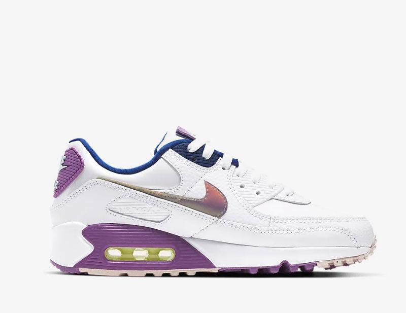 Nike air max 90 se dames sneakers wit/paars