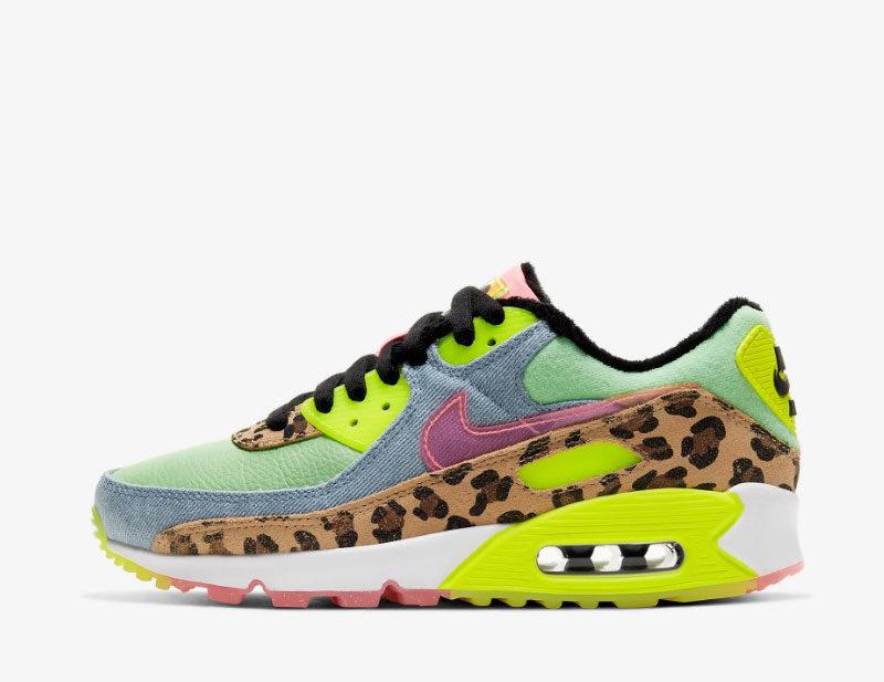 Nike air max 90 lx dames sneakers multicolor