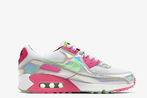 Nike air max 90 lx dames sneakers wit/roze