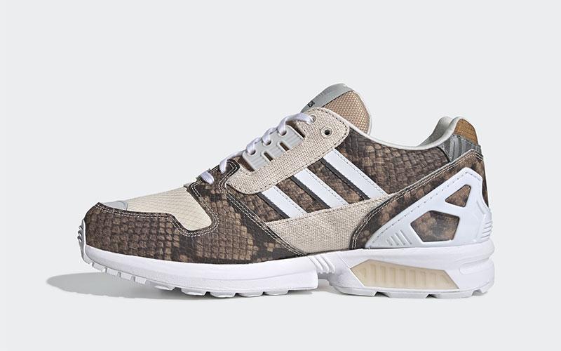 Adidas ZX 8000 dames sneakers bruin
