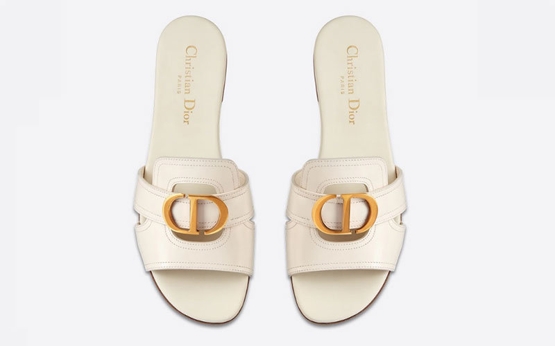 Christian dior 30 montaigne dames slippers wit