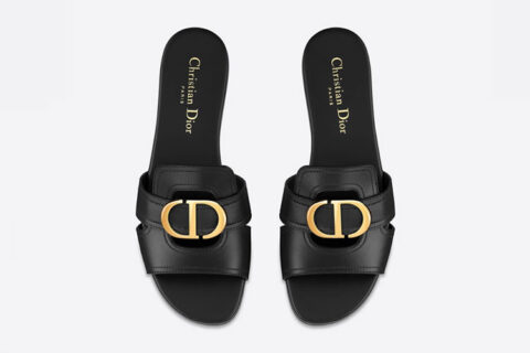 Christian dior 30 montaigne dames slippers zwart